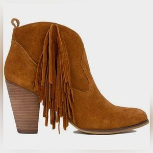 Steve Madden Ohio Chestnut Suede Ankle Boots
